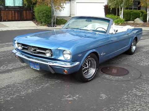 65 Mustang For Sale >> 1965 Blue Mustang Convertible For Sale Export Only - YouTube