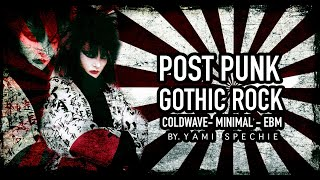 Post punk, Gothic Rock, Cold Wave, Minimal & Ebm.