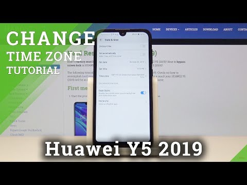 How To Change Date In Huawei Y5 2019 - Time Settings / Set Up Clock Format