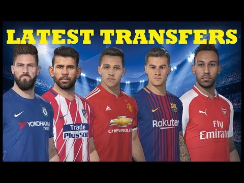 PES 2018 Latest Transfers Patch ft  Aubameyang, Sanchez, Coutinho