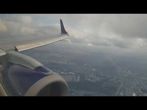 JetBlue Embraer E-190 Landing Fort Lauderdale FLL Airport CCA 8th Grade Bahamas Mission Trip 2018