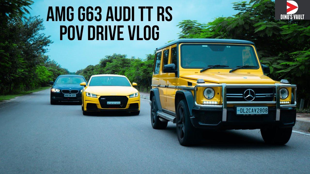 AUDI TT RS AMG G63 POV DRIVE - Met Joker in Real Life Sunday Drive Vlog #Cars@Dinos