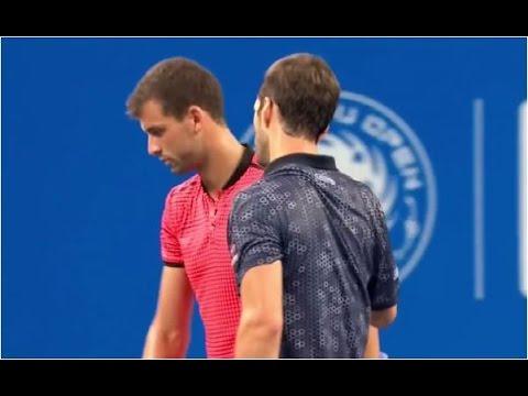 Grigor Dimitrov vs. Albert Ramos-Vinolas 6-7(6), 6-1, 6-7(3) Chengdu Open (SF) 01.10.2016.