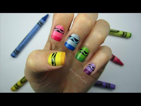 Crayon Nail Art