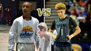 Repeat youtube video 14 YEAR OLDS DOMINATING HIGHSCHOOL BASKETBALL LEAGUE!! JULIAN NEWMAN VS LAMELO BALL