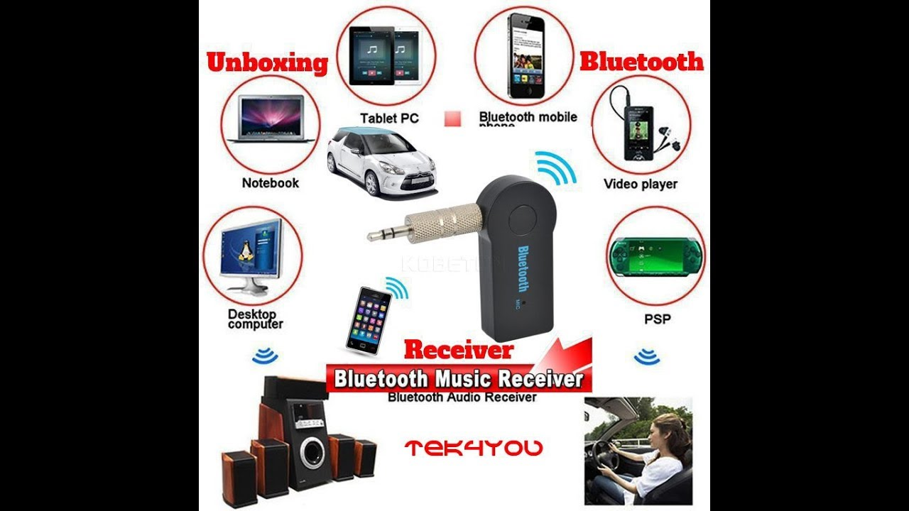 Mpow Bluetooth 4.1 Receiver Music Aduio Adapter Car Kit Hands-free Universal