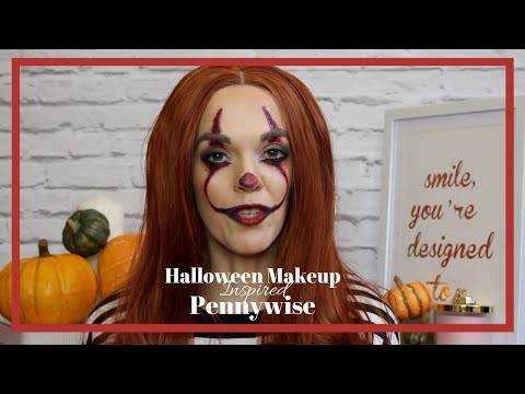 Halloween  Pennywise Inspired Makeup Tutorial -Fairy Dollz thumbnail
