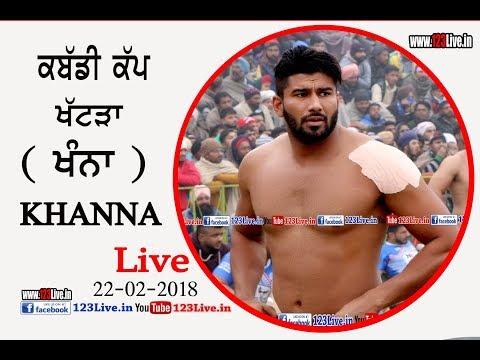 Khattra ( Khanna ) Punjab Kabaddi Academy Association Cup 22 Feb 2018/www.123Live.in