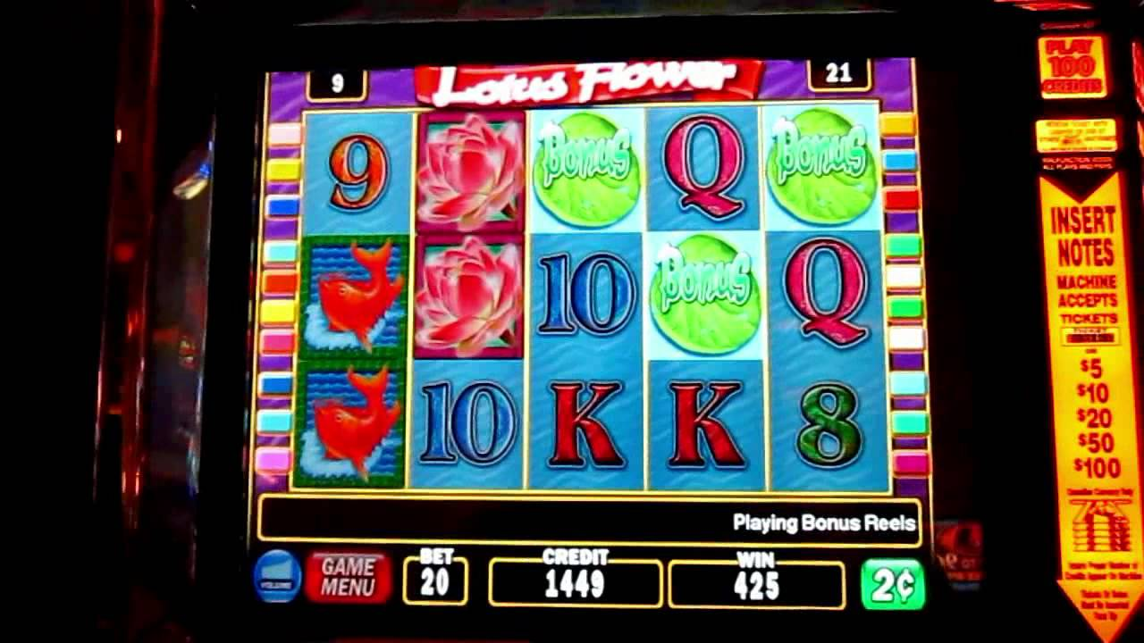 Lotus Flower Slot Machine Bonus Round Igt Youtube