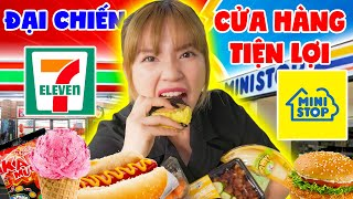 RESTAURANT 7-ELEVEN VS MINISTOP | Which is the most perfect thing? CREAM, BURGER, HOT Pot, ... | SUNNY TRUONG