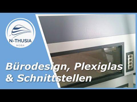 Segmentbau – Segmente im Bürostil mit Wartungsfenster &  Anlagenschnittstellen   Bürobahn in Spur N