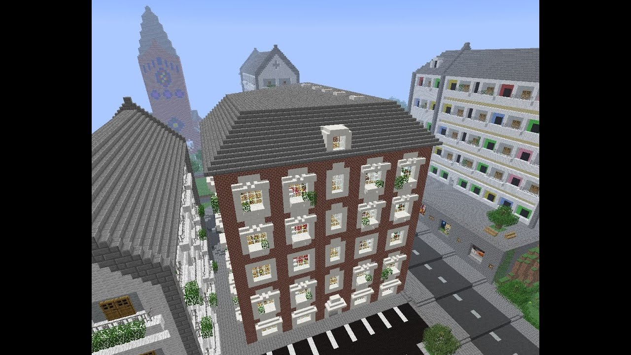 Minecraft   Modern Apartment Building   YouTube