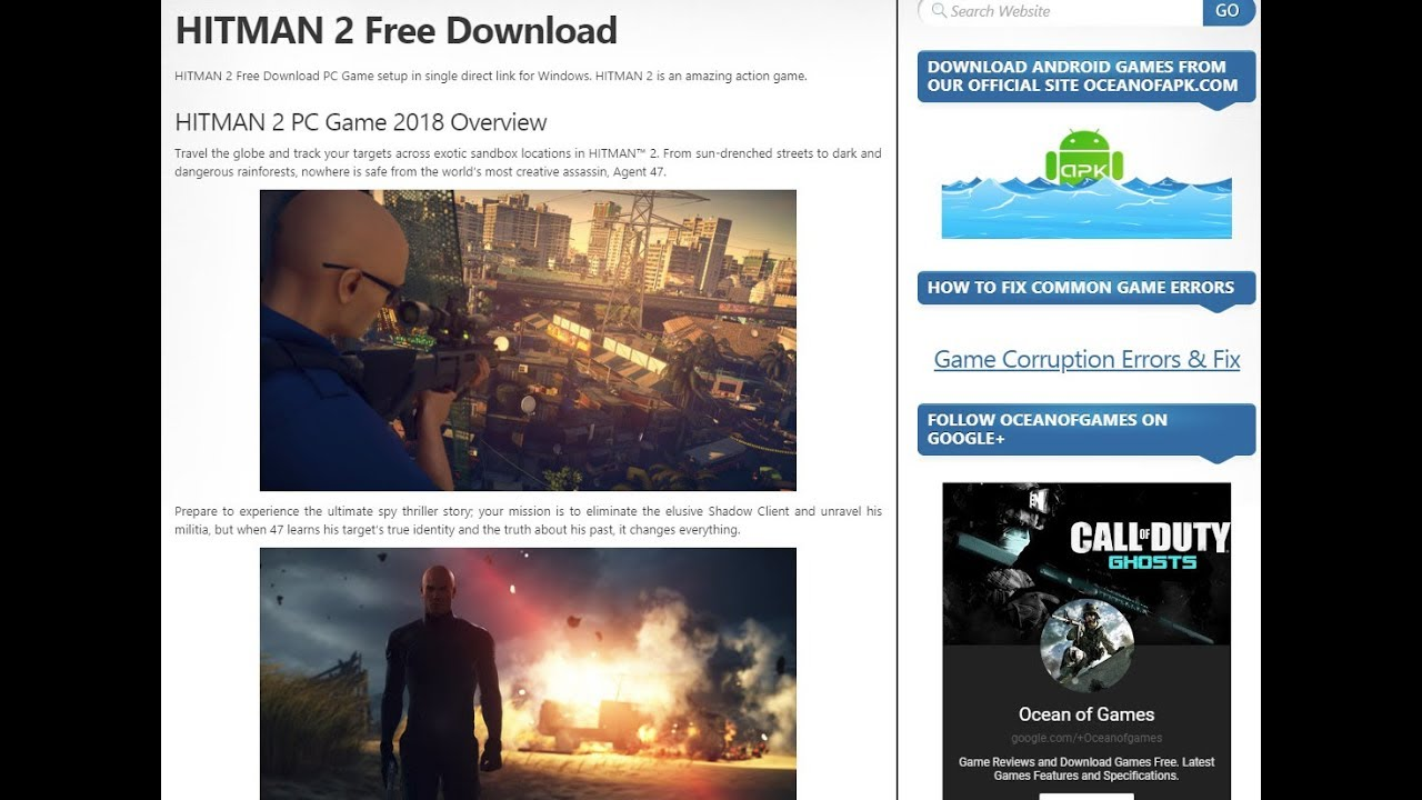 hitman 2 apk free download