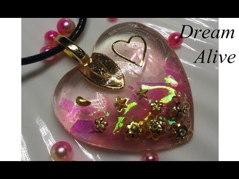 Resin Art Jewelry 레진아트 액세서리 - '하트 퍼레이드 1' 목걸이 만들기 Making 'Heart Parade 1' Necklace