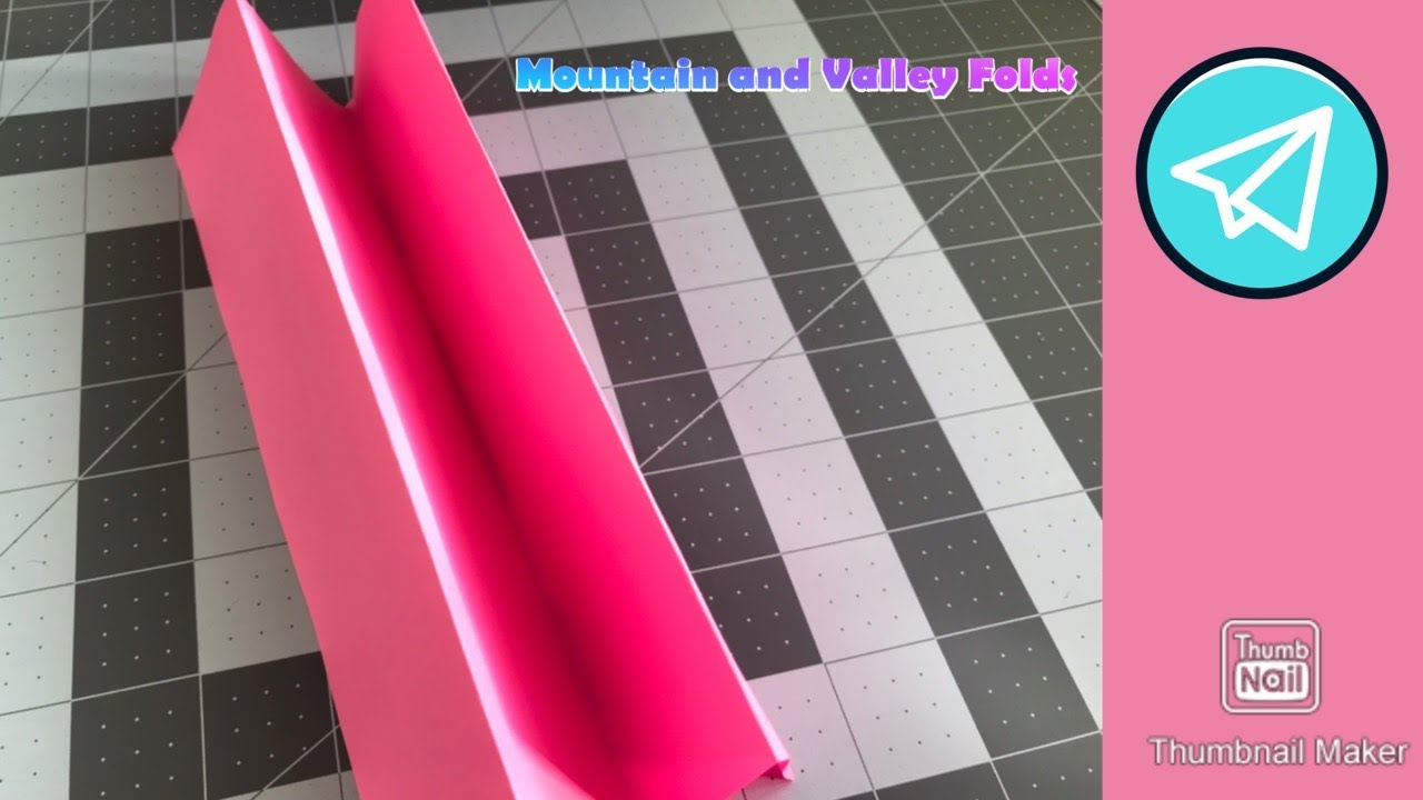 Origami Basics - Mountain and Valley Folds
