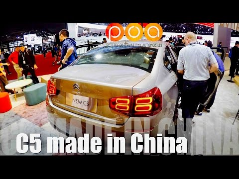 Nouvelle Citroën C5 made in China & Citroën C3 XR - Salon de Shanghai 2017 2/4
