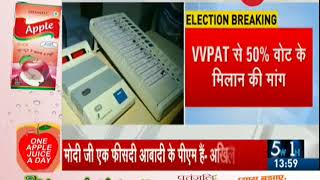 21 opposition parties ask Supreme Court to increase EVM paper trail count