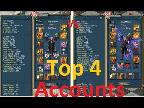 Conquer Online - The Strongest 4 Characters 2015