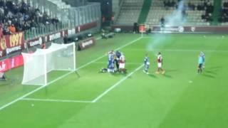 Metz-Lyon  30' minutes, Anthony Lopez se prend 2 pétards