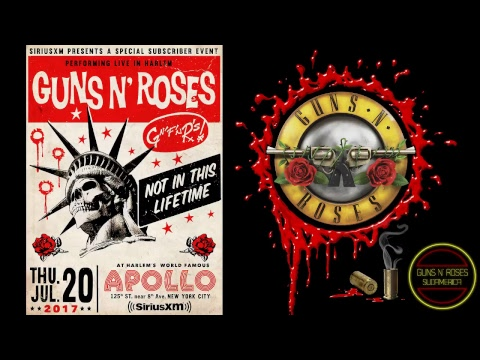 [GN'R SUDAMERICA] Guns N' Roses LIVE at the Apollo Theater 7/20/2017 (SiriusXM)