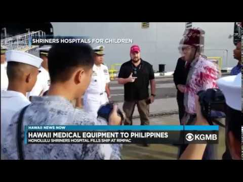 Aloha Shriners Ship $500,000 Worth Of Medical Supplies To Manila, Philippines