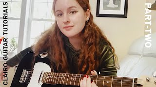 "Clairo guitar tutorial // part two // ""White Flag"" tutorial // beginner friendly // easy // electric"