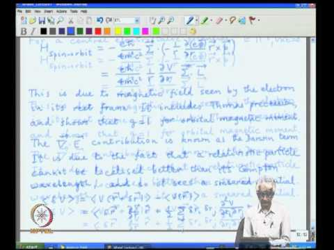 Mod-01 Lec-10 Interpretation of relativistic corrections, Reflection from a potential barrier
