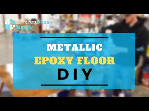 Metallic Epoxy Floor DIY