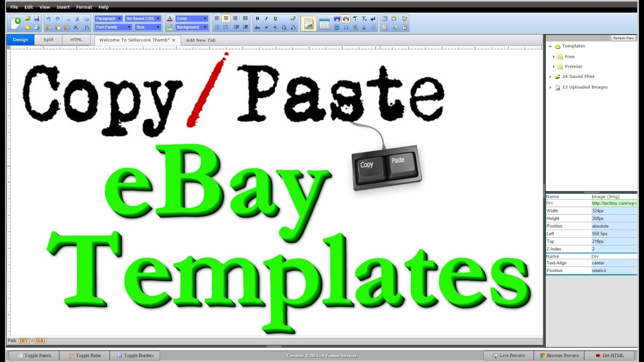 how to create ebay html listing template copy amp paste step by