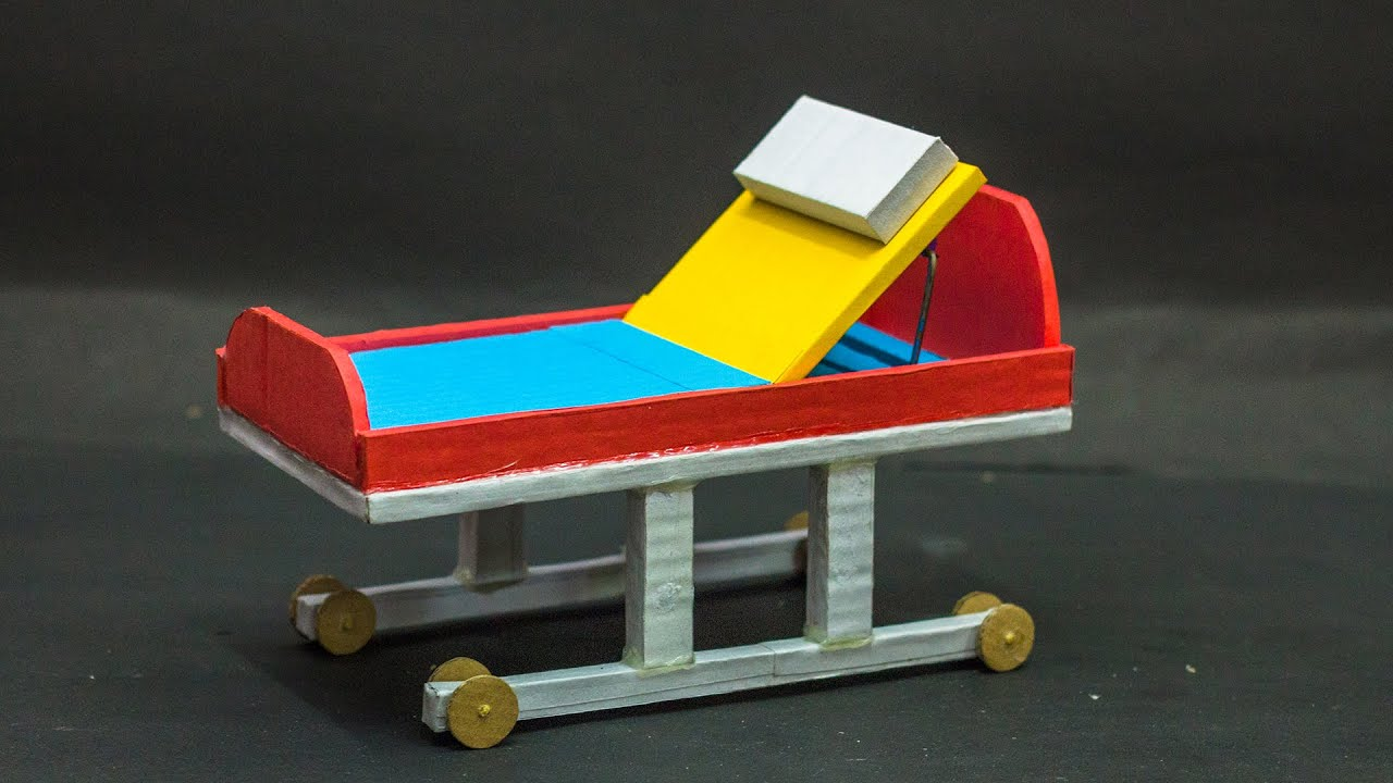 Hospital Bed 3D Model   Science Projects