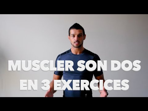 muscler son dos en 3 exercices fitness homme femme youtube. Black Bedroom Furniture Sets. Home Design Ideas