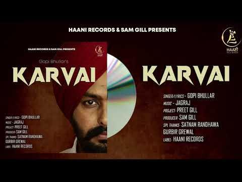 Karvai: Gopi Bhullar ft. Jagraj   Latest Punjabi Song 2020   HaaniRecords   SamGill #NewPunjabiSong - Download full HD Video mp4