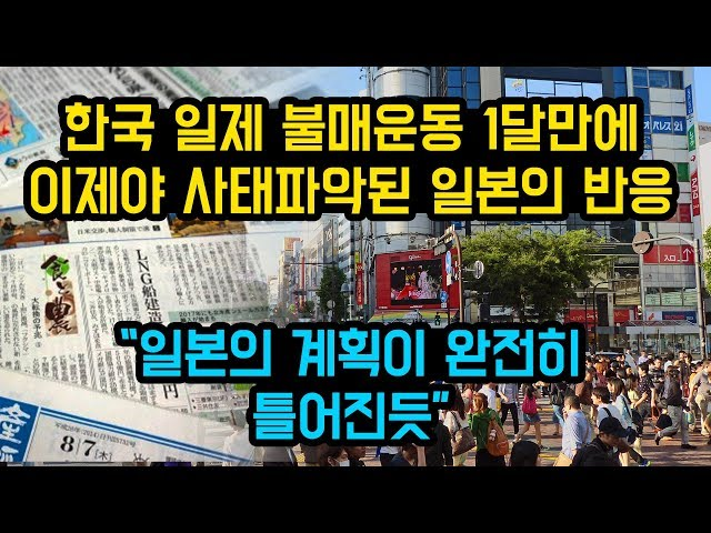 한국의 일제 불매운동 1달만에 이제서야 사태파악된 일본의 반응