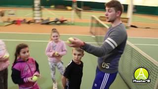 Детская групповая тренировка по теннису | Большой теннис для детей