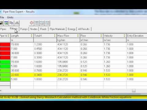 Pipe Flow Expert Software Demo