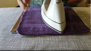 Diamond Painting-Ironing a canvas