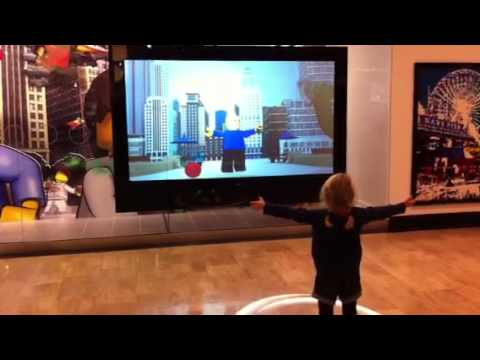 Interactive Window Lego Store Chicago - YouTube