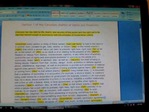 The Canadian Rights And Freedoms Section 7 Deciphered By Chris B.wmv