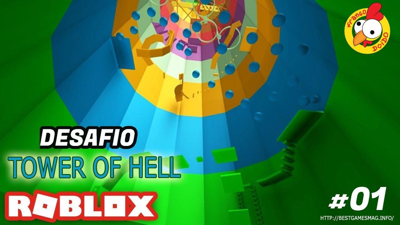 DESAFIO DO TOWER OF HELL - ROBLOX - #01 -  Frango Doido