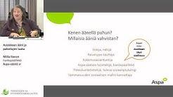 Asiakkaan ääni ja palvelujen laatu Milla Ilonen, suunnittelija, Aspa-säätiö sr