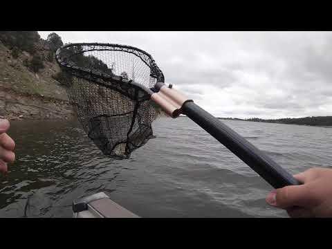 Walleye Fishing Keyhole Reservoir, Pine Haven WY.