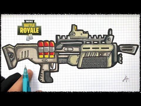 Tuto Dessin Pompe Lourd Fortnite Youtube