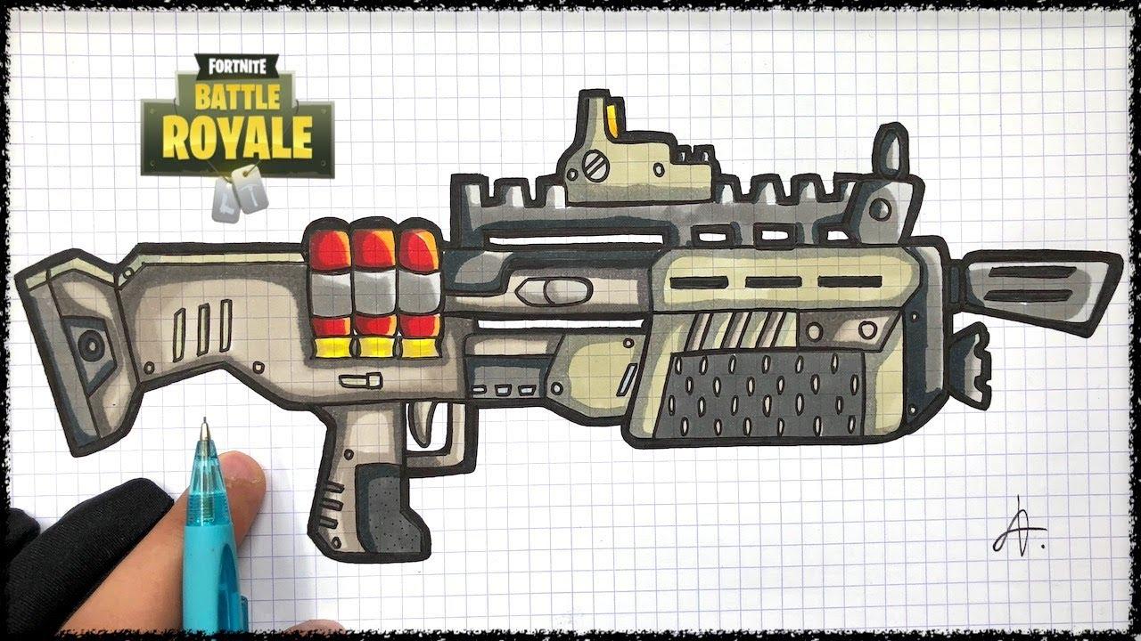How To Draw Shotgun Fortnite