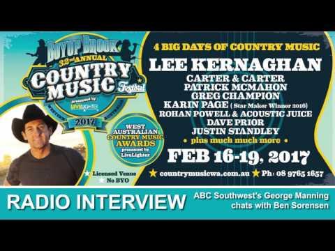 ABC Southwest interview BEN SORENSEN - Boyup Brook Country Music Festival 2017