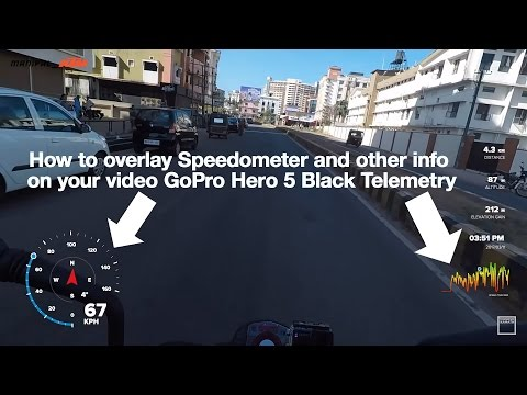 How to overlay Speedometer and other info on your GoPro videos
