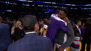 LeBron James & Jeff Green Share a Moment - Jazz vs Lakers | October 25, 2019 | 2019-20 NBA Season