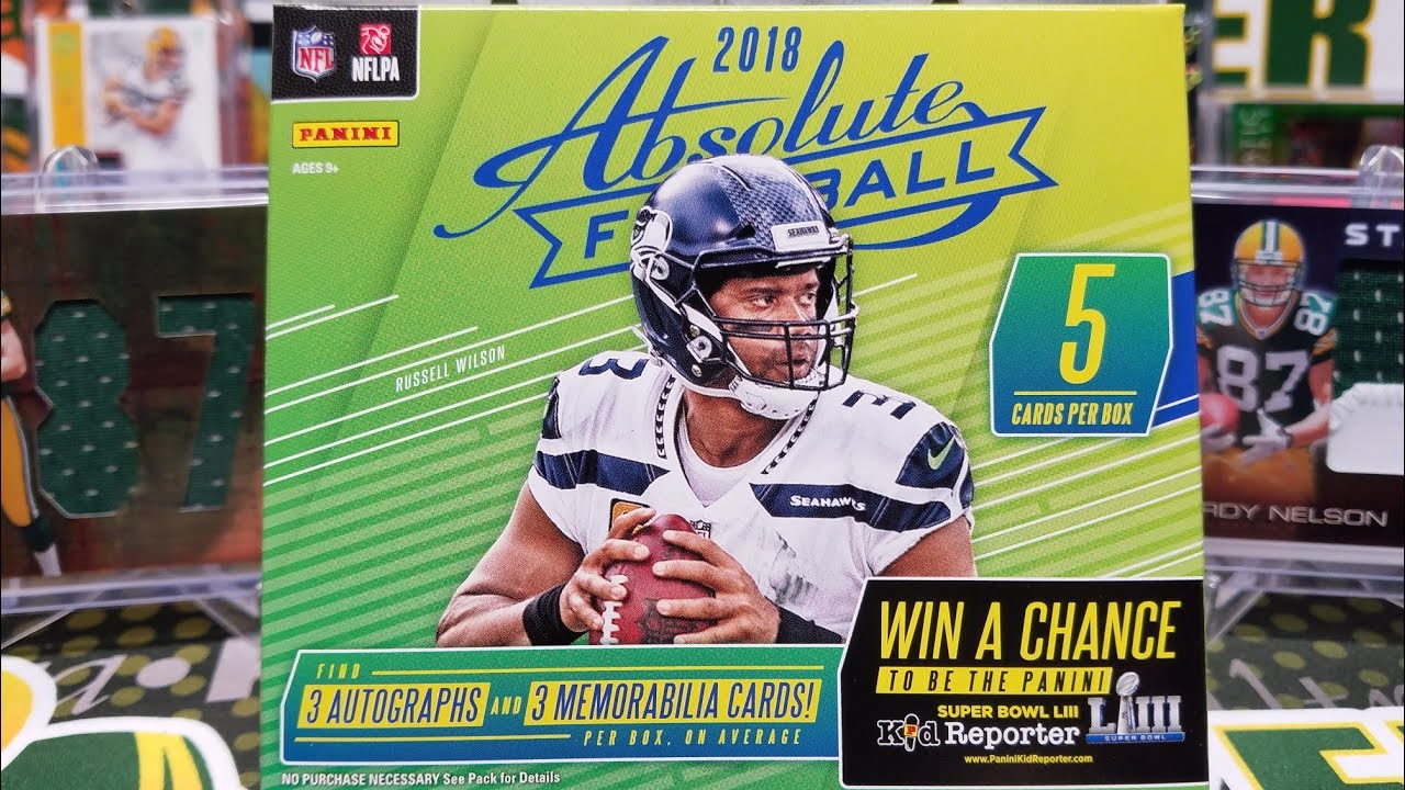 78cf0e376f2 2018 Panini Absolute Football Hobby Box. 5 Hits! - YouTube