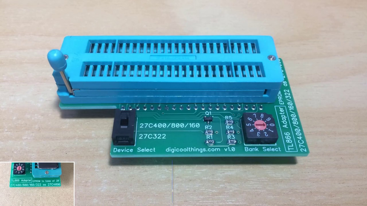 TL866 EPROM Programmer Adapter for 27C400/800/160 and 27C322 16bit EPROMS