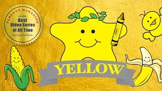 COLORS: YELLOW Amarillo Jaune ★ English French Spanish ★ Best Early Learning Videos & Songs for Kids
