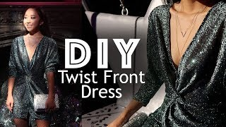 DIY Twist Front Dress | Holiday Dress From Scratch